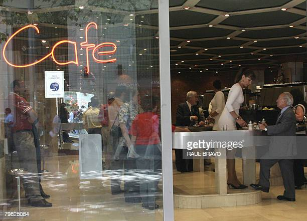 """Cafe con Piernas"""" , in downtown Santiago, on February 18, 2008. These establishments have sprouted around the Chilean capital employing about 1000..."""