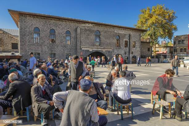 Cafe Culture of Local People in Diyarbakir, Turkey
