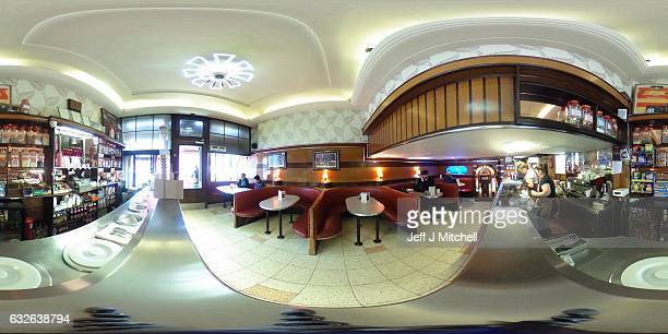 Cafe d' Jaconelli where in the film Trainspotting the characters Renton and Spud share a milkshake on April 14 2016 in Glasgow Scotland T2...