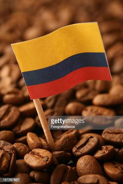 café de colombia - bandera colombiana fotografías e imágenes de stock