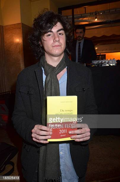 Cafe de Flore awarded 2011 Marien Defalvard attends the Prix De Flore Literary Award 2011 ceremony party at the Cafe de Flore on November 3, 2011...
