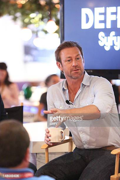 """Cafe Defiance Press Breakfast and Defiance Panel at Comic Con in San Diego California on Friday, July 13, 2012"""" -- Pictured: Grant Bowler --"""