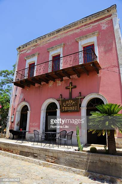Cafe El Triunfo at the old town of El Triunfo once a vibrant capital of Baja California Sur today almost a ghost town