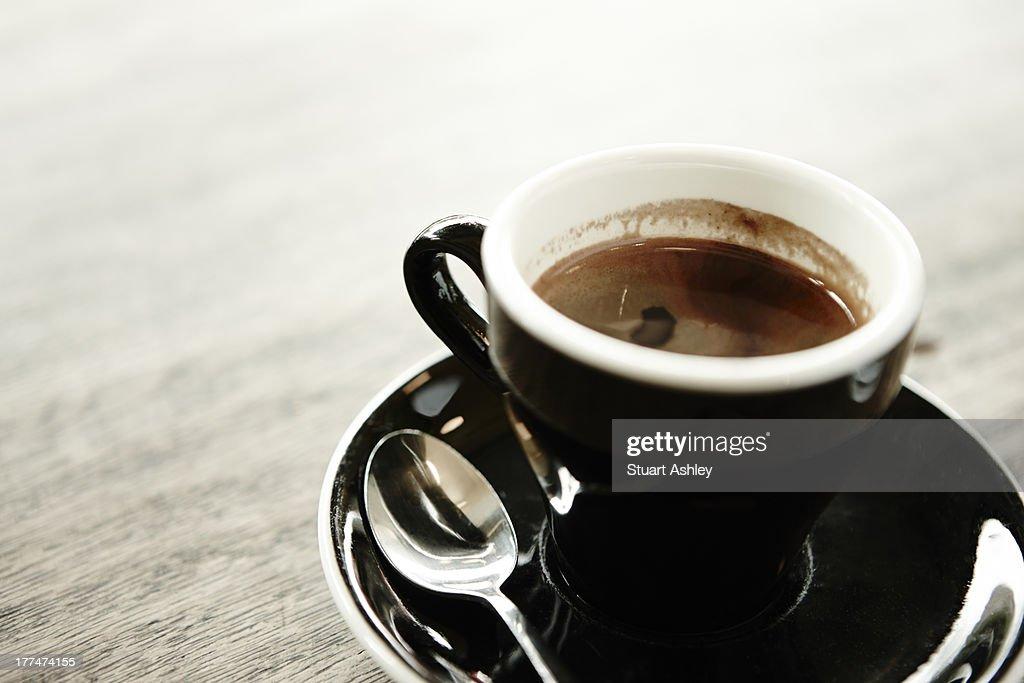 Cafe Espresso Coffee Short Black Stock Photo