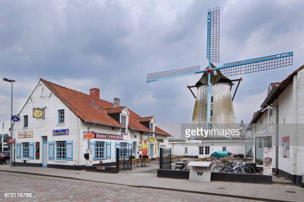 Cafe In den Grooten Moriaen Belgian brasserie / pub in the town Wervik / Wervicq West Flanders Belgium
