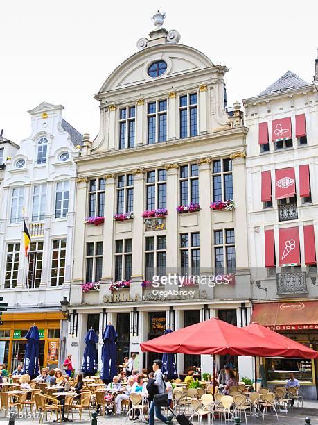 Café en la histórica parte de Bruselas.