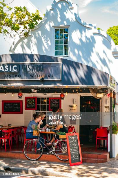 A cafe in Stellenbosch a university town with a large collection of colonial era Cape Dutch buildings in the Western Cape Province South Africa