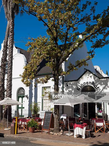 cafe in stellenbosch, south africa - stellenbosch stock pictures, royalty-free photos & images