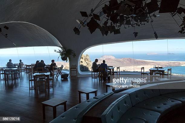 Cafe inside Mirador del Rio designed by Cesar Manrique, Lanzarote, Canary Islands, Spain.