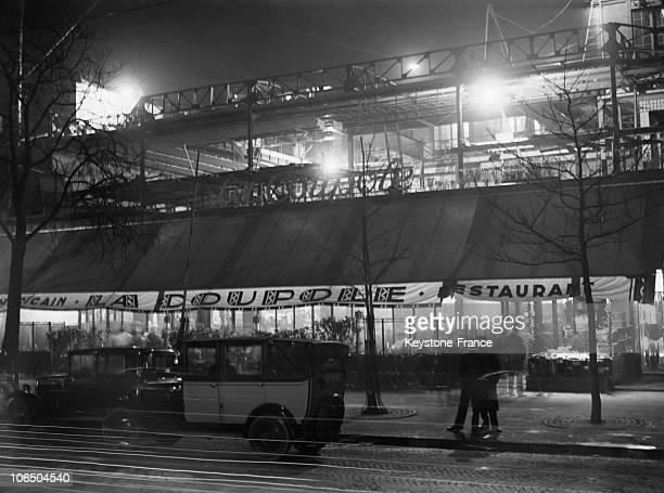Cafe La Coupole At Night In Montparnasse Paris November 1929