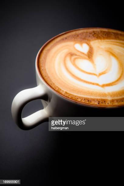 Cafe Latte Art mit Herz