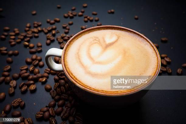 Cafe Latte Foam Art