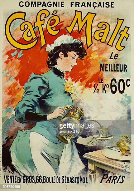 Cafe Malt Poster by Lucien Lefevre