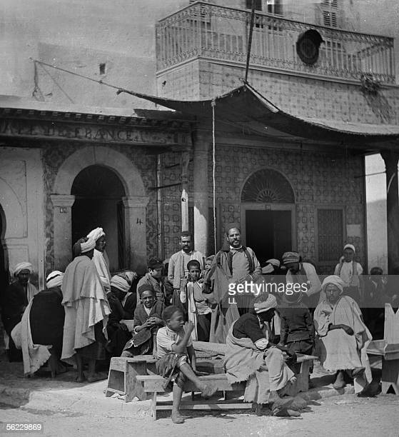 Cafe. Monastir . About 1890. Stereo LL-19081A.