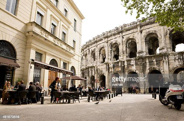 Cafe near Roman Arena in Nimes
