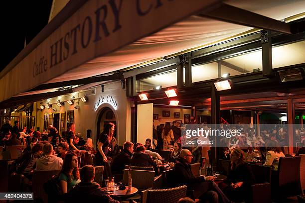 cafe nightlife in zagreb croatia - zagreb stock pictures, royalty-free photos & images
