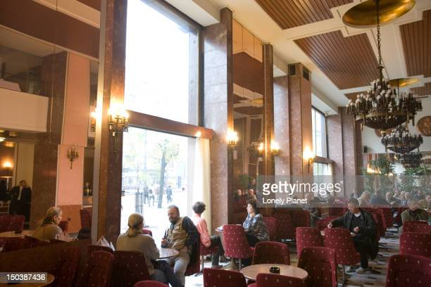 Cafe of Moskva Hotel.