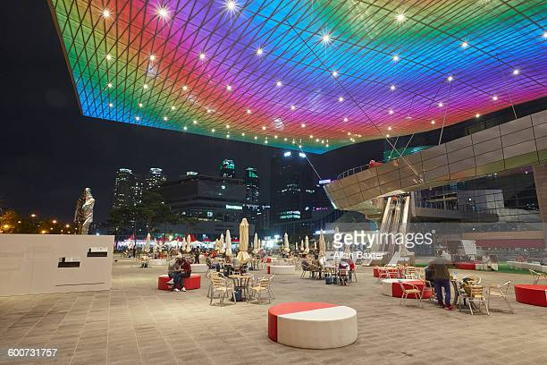 Cafe of the Busan Cinema Center at night