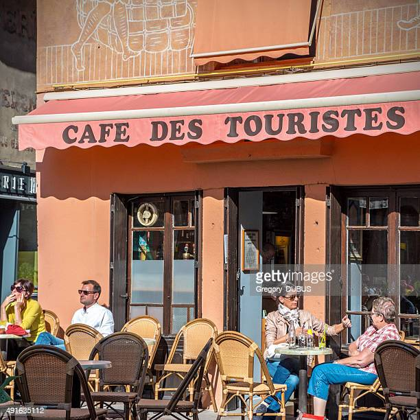 Cafe des touristes french bar in Cremieu city