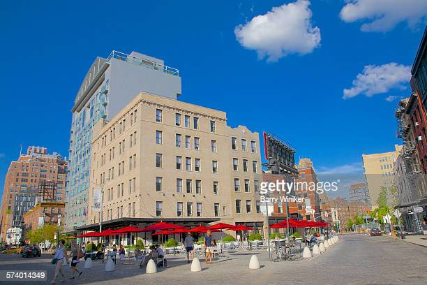 Cafe, office building and hotel, downtown, NYC
