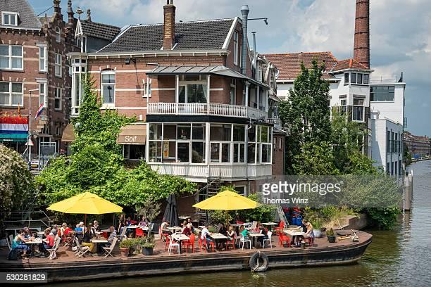Cafe on a boat