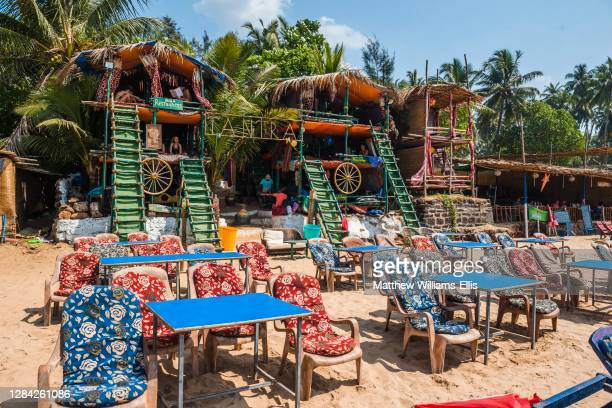 Cafe on Anjuna Beach, Goa, India.