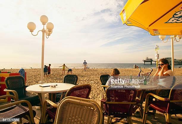 Cafe on the Beach at Scheveningen