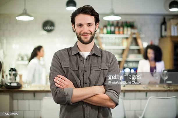 Cafe owner, portrait