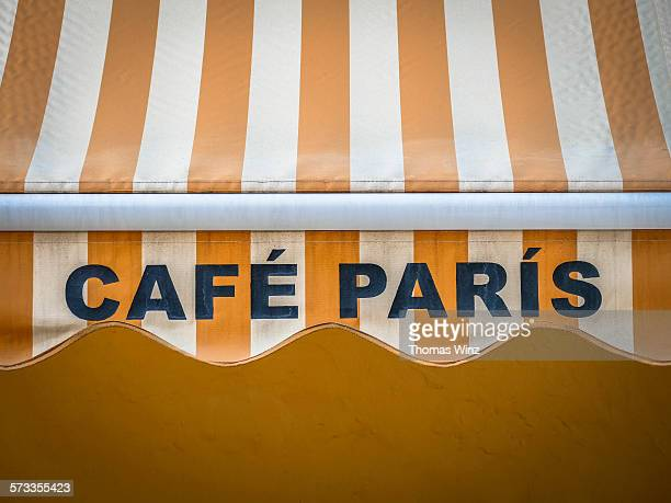 """Cafe Paris"" Awning in Havana"