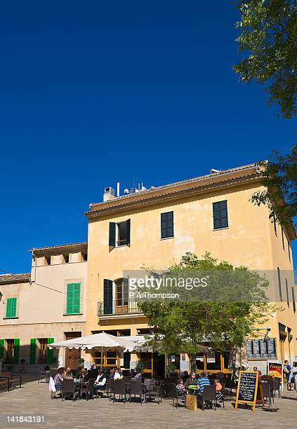 Cafe, Placa de la Constitucio, Alcudia, Mallorca, Spain
