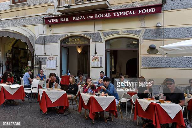 Cafe restaurant at Amalfi