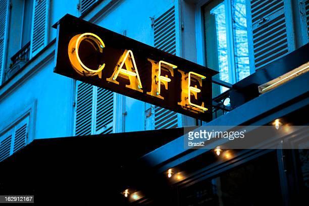 Cafe restaurant neon sign
