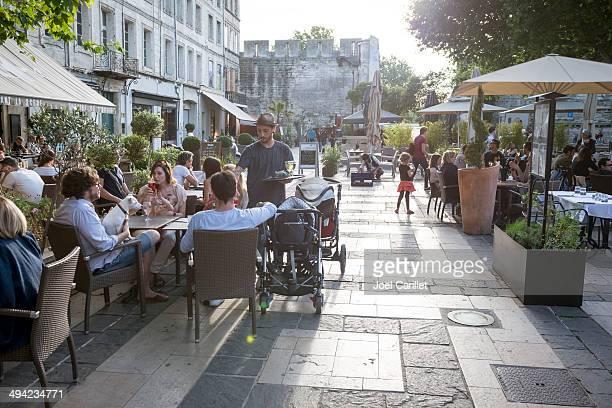 Cafe scene in Avignon, France