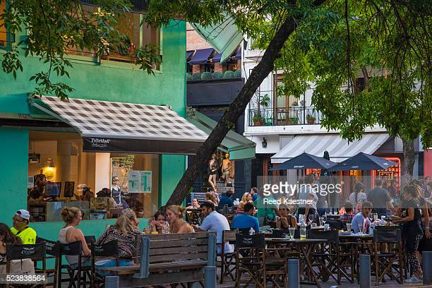 cafe scene in palermo district of buenos aires - palermo buenos aires stock photos and pictures
