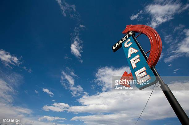 Cafe sign, route 66, New Mexico