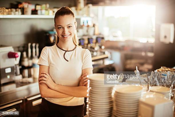 Cafe waitress