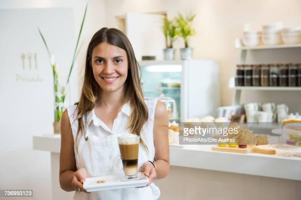 Cafe waitress, portrait