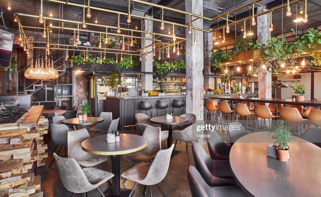 Cafe-bar in Moscow : Stock Photo