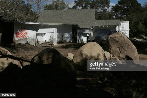 A home on Olive Mill Road in Montecito that was damaged by the mudslide