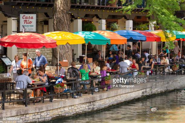 Cafes And Restaurants Along The San Antonio Riverwalk