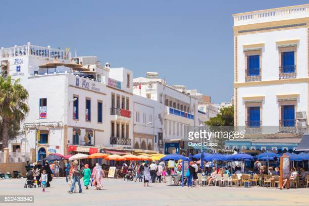 Cafes and restaurants in Essaouira, Morocco