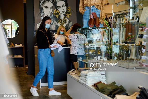 Cafes and retailers resume restricted trading on February 06, 2021 in Perth, Australia. Western Australia's COVID-19 lockdown restrictions were...