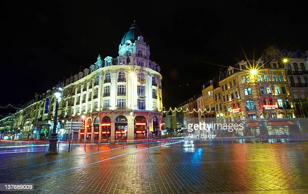 cafes and streets in central - france lille stock pictures, royalty-free photos & images