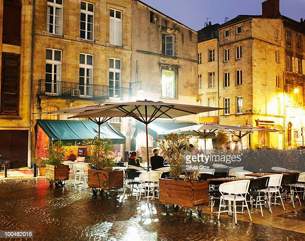 cafes in french square at sundown