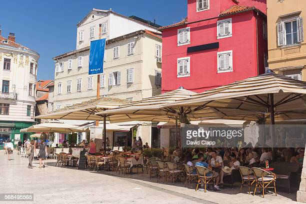 Cafes in the Old Town in Split, Croatia