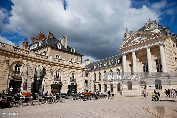 Cafes on Libération square in Dijon, France