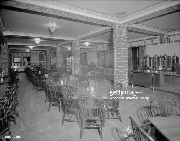 Cafeteria showing counter and tables University of Wisconsin Memorial Union Madison Wisconsin September 25 1928