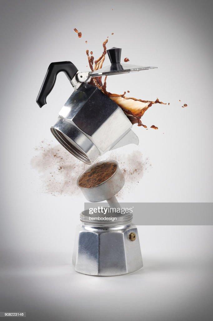 Caffè Moka explosion : Stock Photo