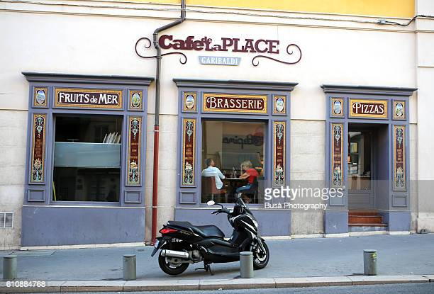 Caffe, Brasserie in the center of Nizza, French Riviera, France