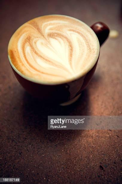 Caffe Macchiato Heart Shape